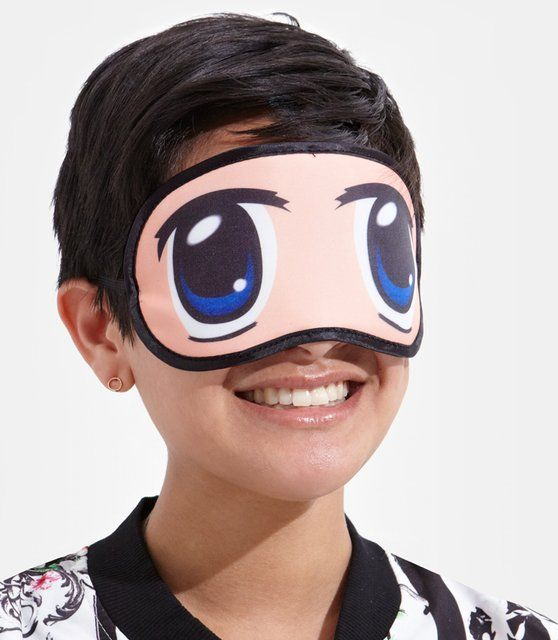 417d92c187f Sleep with two eyes open! This Japanese inspired sleep mask helps you look  animated even when you re taking a snooze