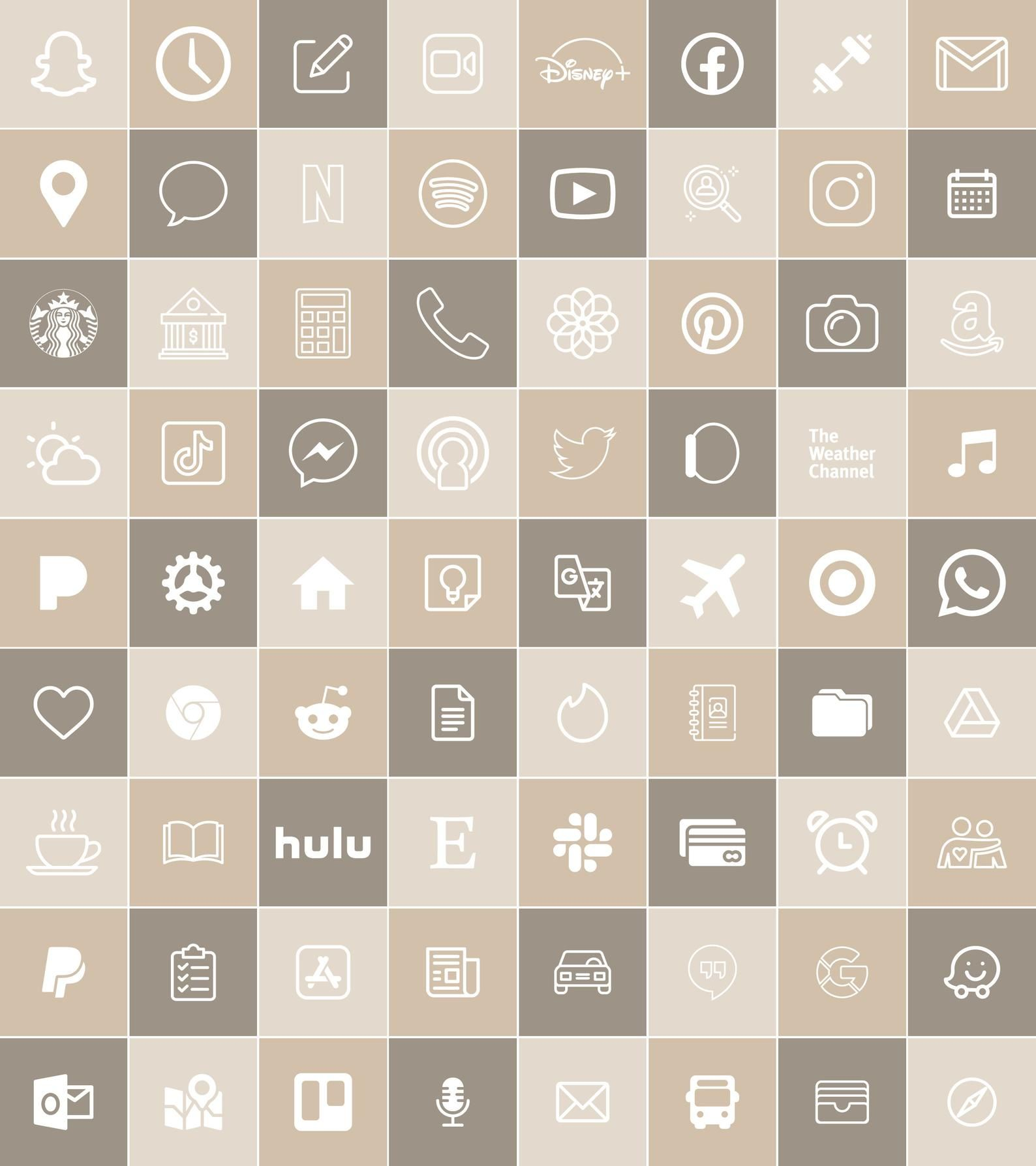 Neutral Tone  | 300 Aesthetic Custom App icons pac