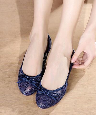 f383ee7b707 Navy Blue Bridal Ballet Flats