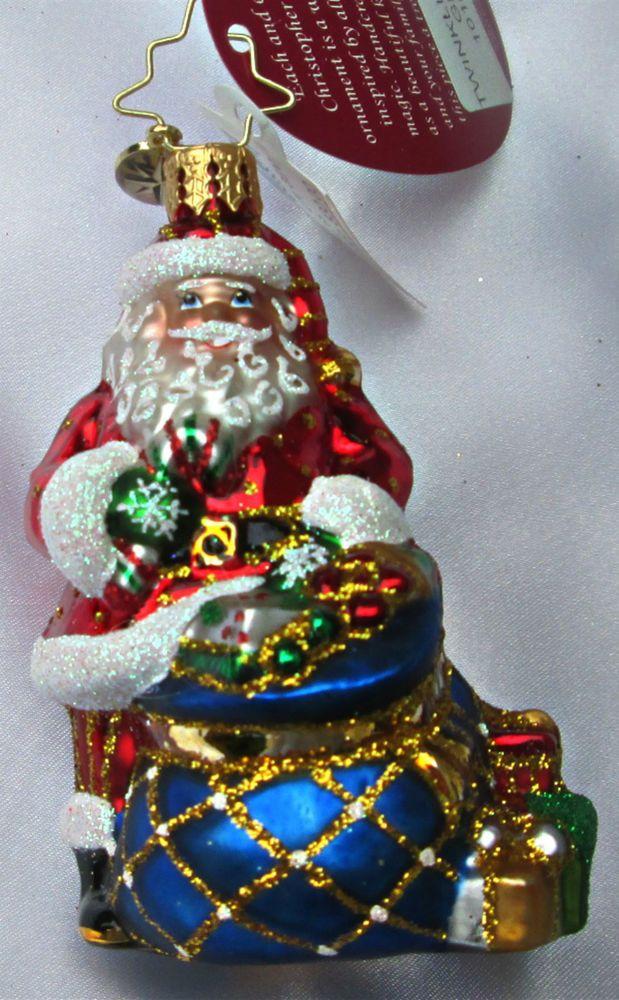 Christopher Radko CHIME TIME Christmas Tree Ornament NWT