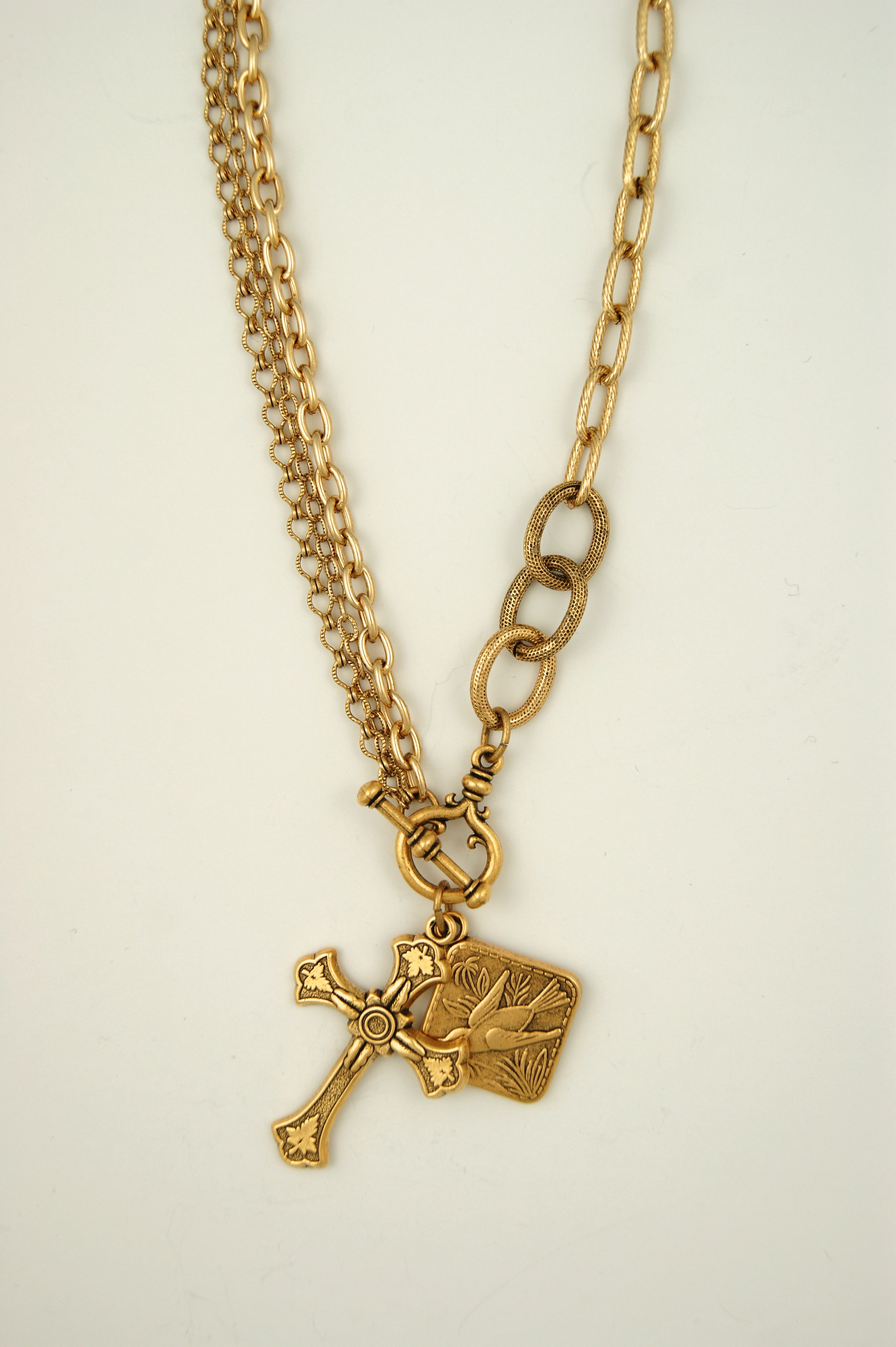 18 lulu necklace with felder cross and sparrow pendant ex voto 18 lulu necklace with felder cross and sparrow pendant aloadofball Images