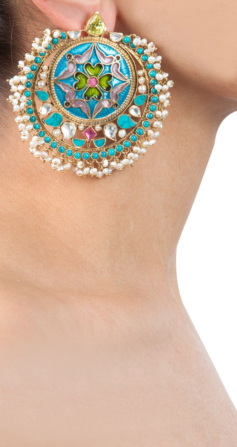 earrings products grande amrapali in silver online enameled a gold plated pearl and usa