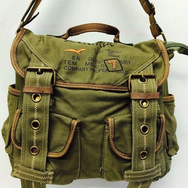 79aa2e8ab435 Retro Style Canvas Messenger Bag