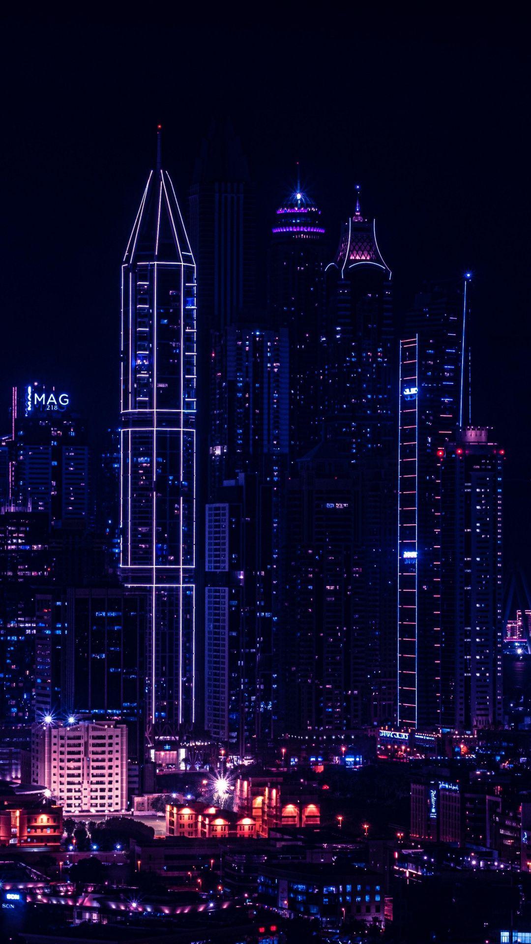 Night Light Wallpaper : night, light, wallpaper, 1080x1920, City,, Night,, Lights, Buildings,, Cityscape, Wallpaper, Wallpaper,, Aesthetic