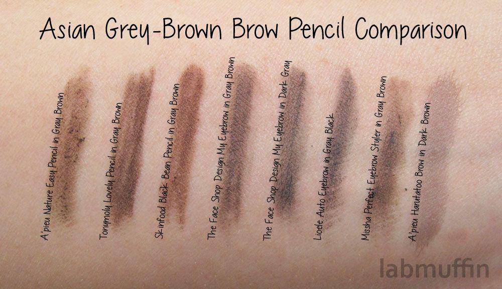 Korean Gray Brown Brow Pencil Comparison Me Time Brows