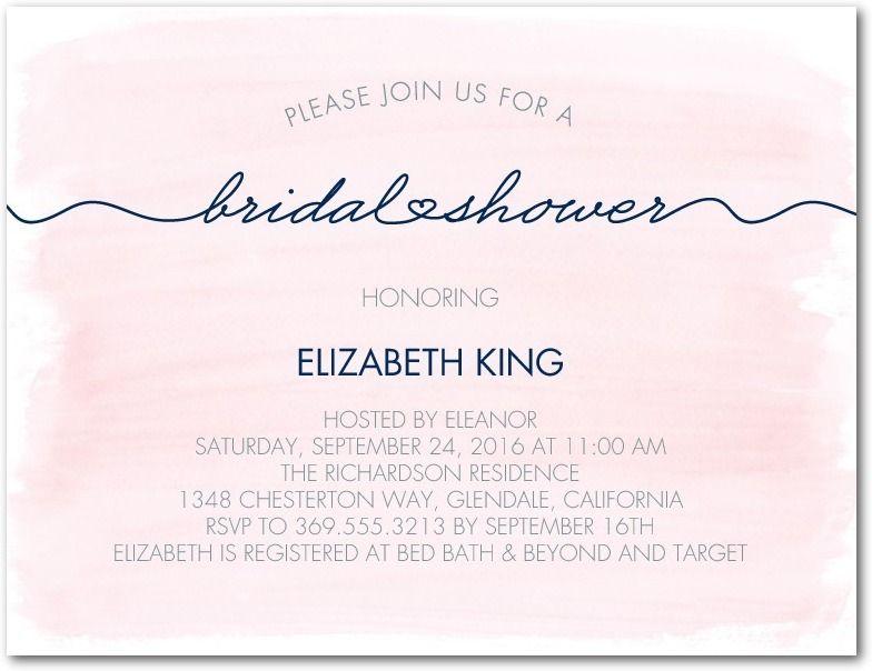 Artfully said studio basics bridal shower invitations in blush artfully said studio basics bridal shower invitations in blush wedding paper divas studio filmwisefo