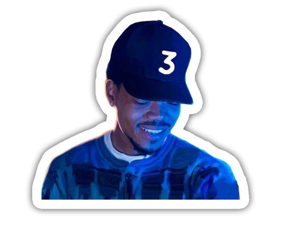 Chance The Rapper Coloring Book Album Cover Laptop Vinyl Decal Sticker Coloring Book Album Chance The Rapper Mixtape Cover