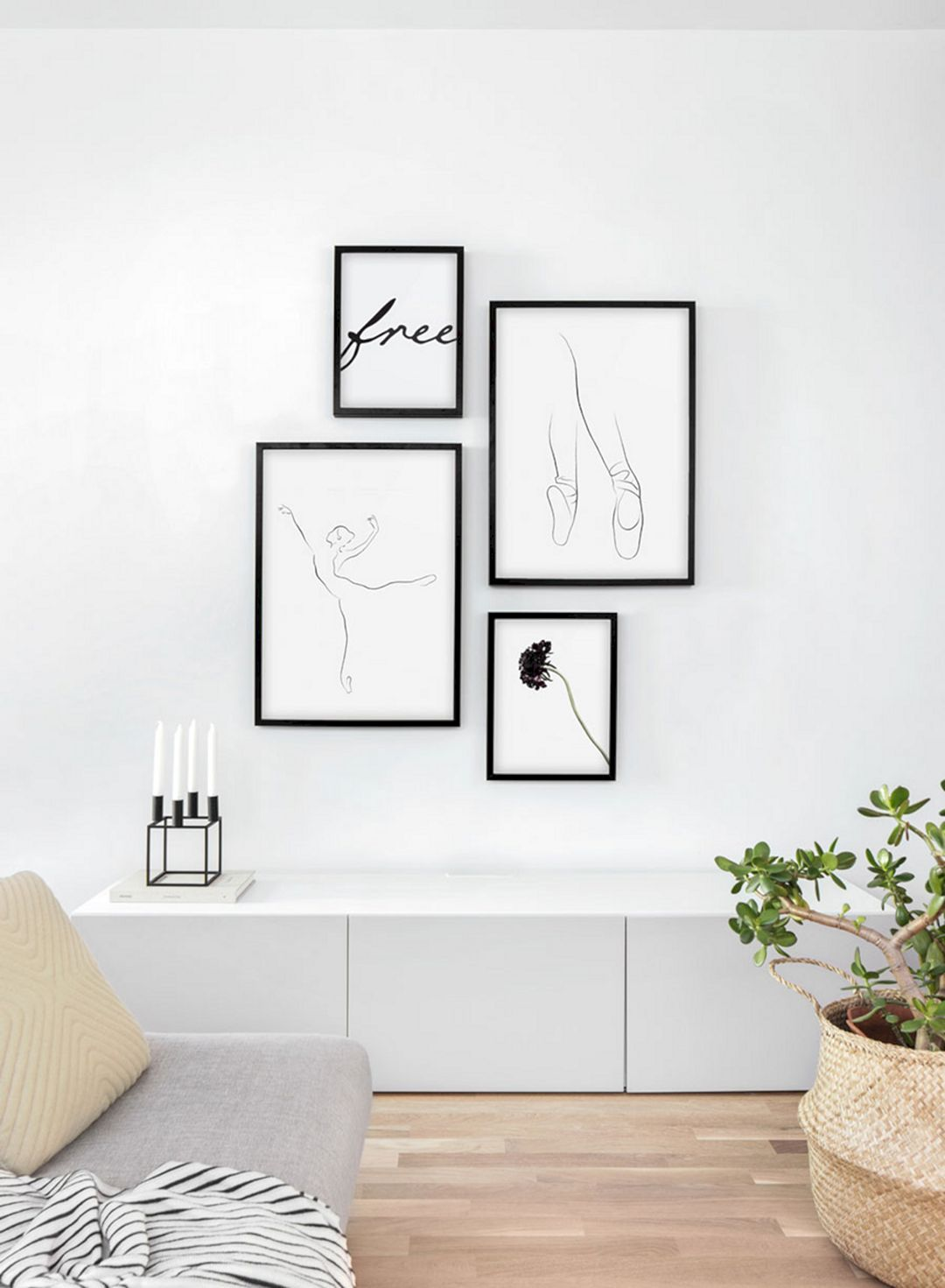 12 Minimalist Wall Decoration Ideas For Small Living Room