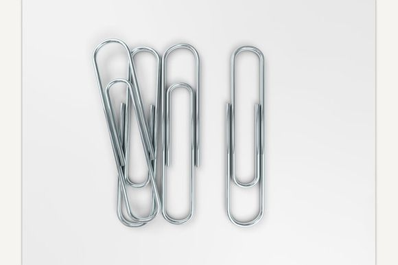 Silver Paper Clips @creativework247