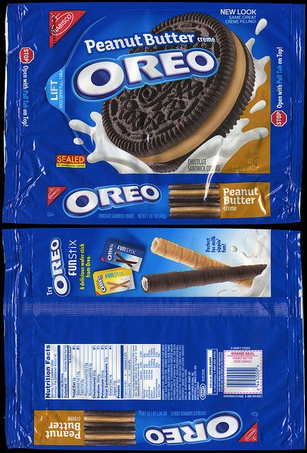 Nabisco Oreo Peanut Butter Creme Cookie Package 2009