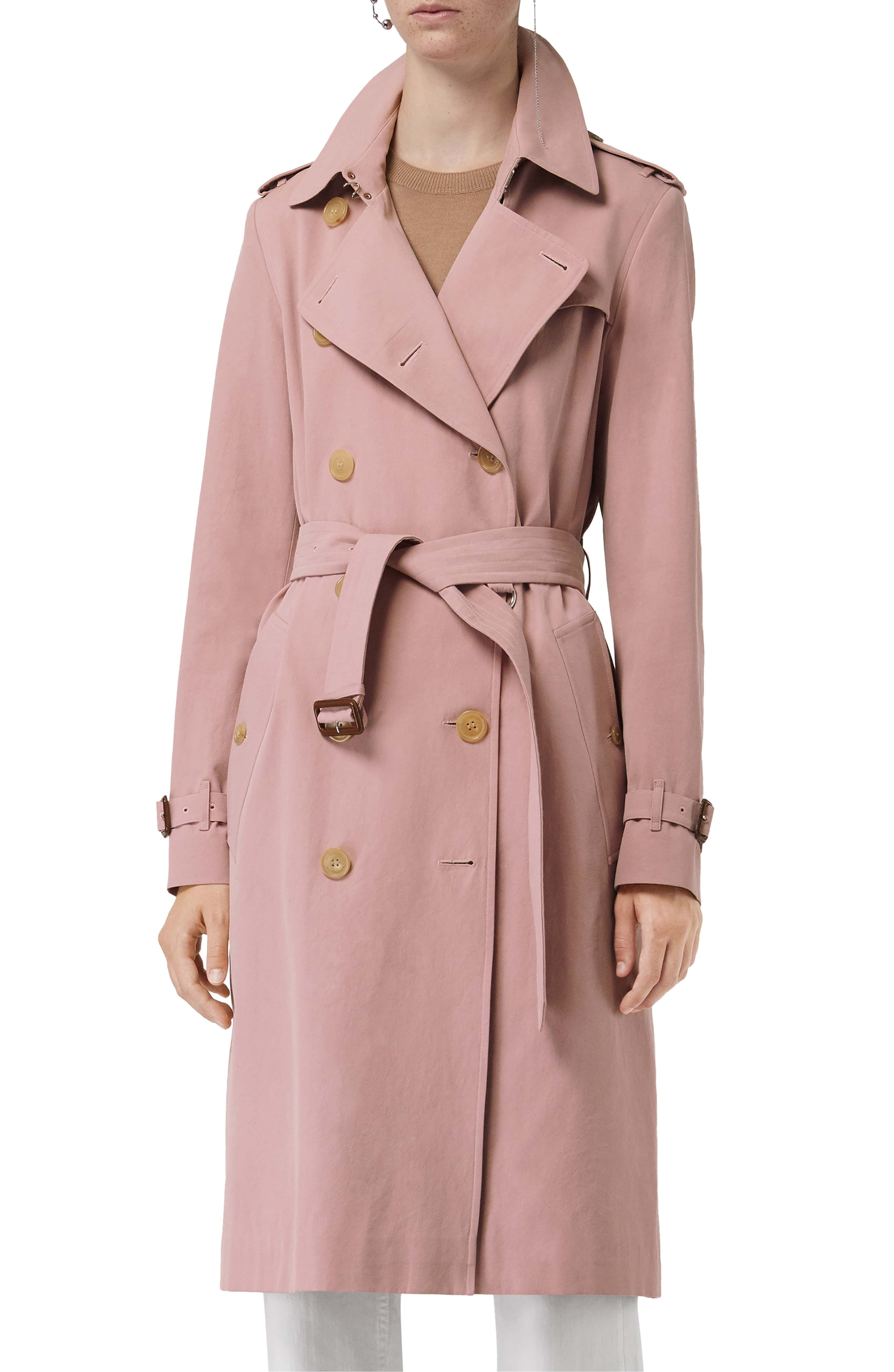 e70026255bb Burberry: Kensington Trench Coat - Chalk Pink | Other Clothing in ...