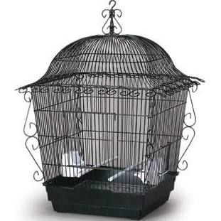 Prevue Pet Jumbo Scrollwork Bird Cage - Black
