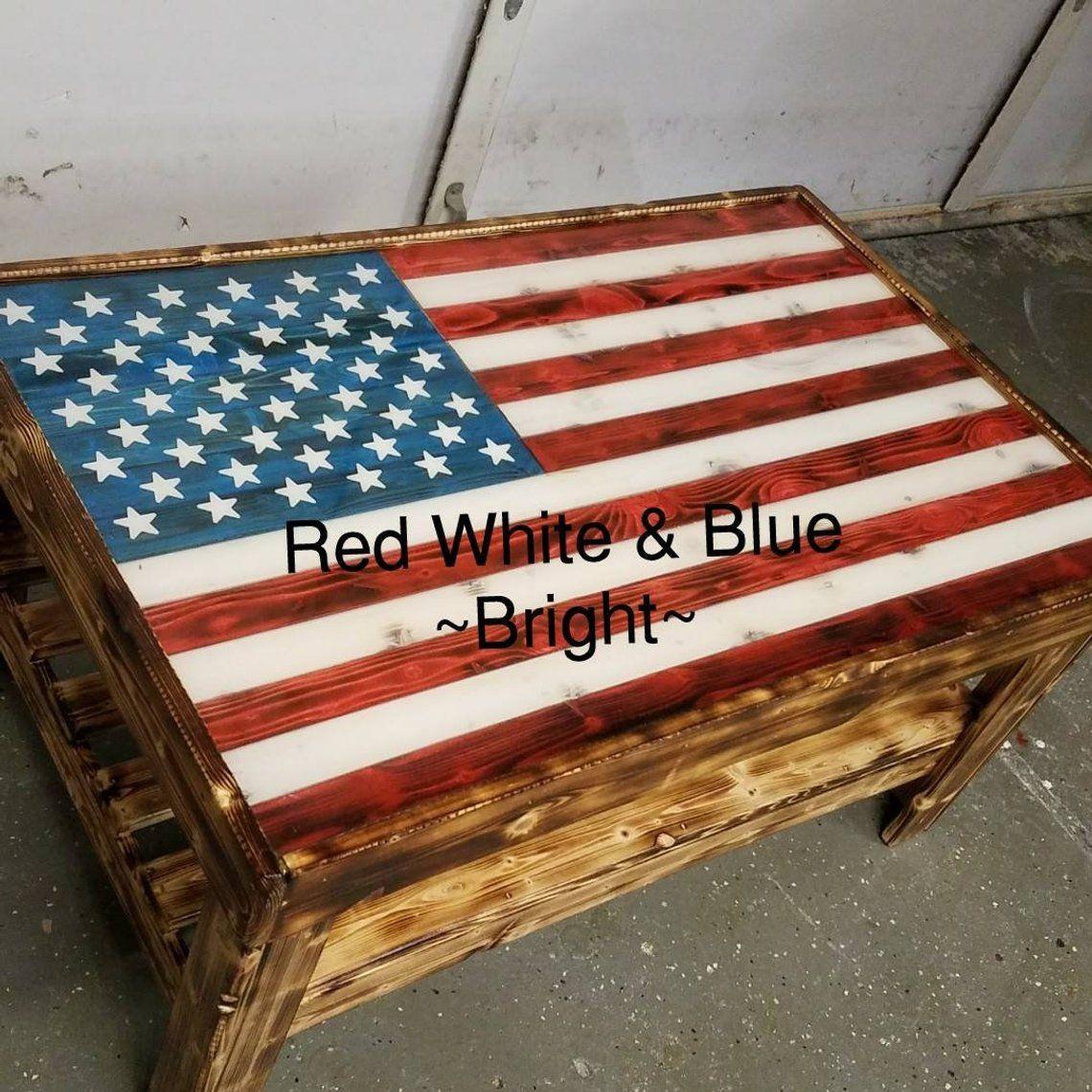 American flag coffee table american flag wood wooden