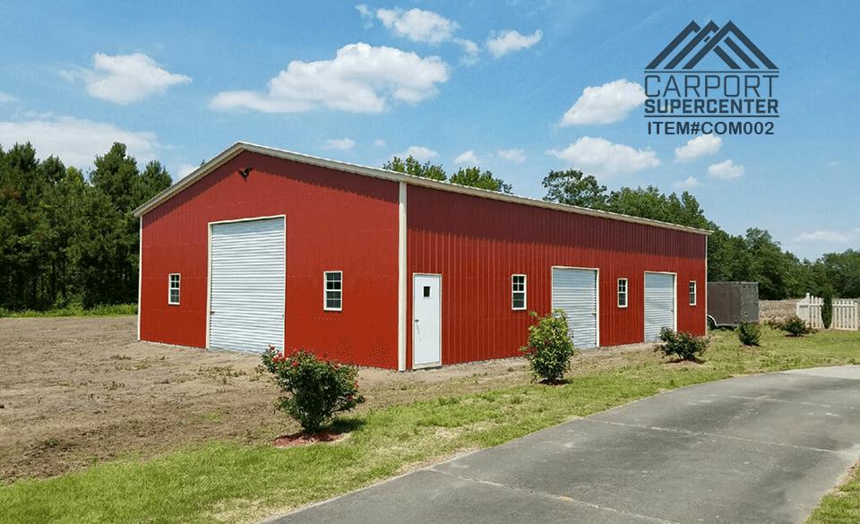 Vertical Roof Commercial Grade Garage Carport Caport Super Center Wood Shed Plans Building A Shed Steel Building Homes