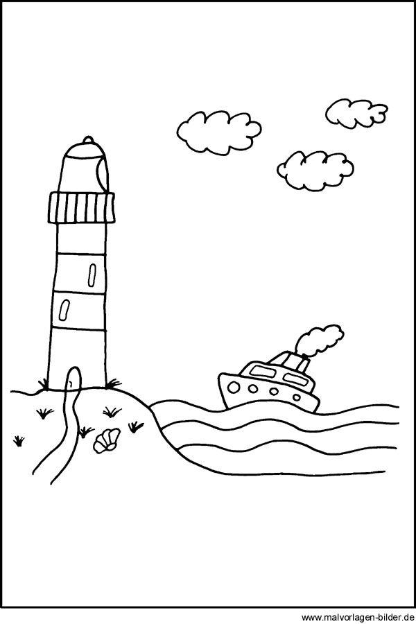 Malvorlage Leuchtturm Malvorlagen Vorlagen Ausmalbilder