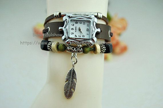Lady Watch Vintage Style Wrist Watch Real Leather by BeautifulShow, $16.99