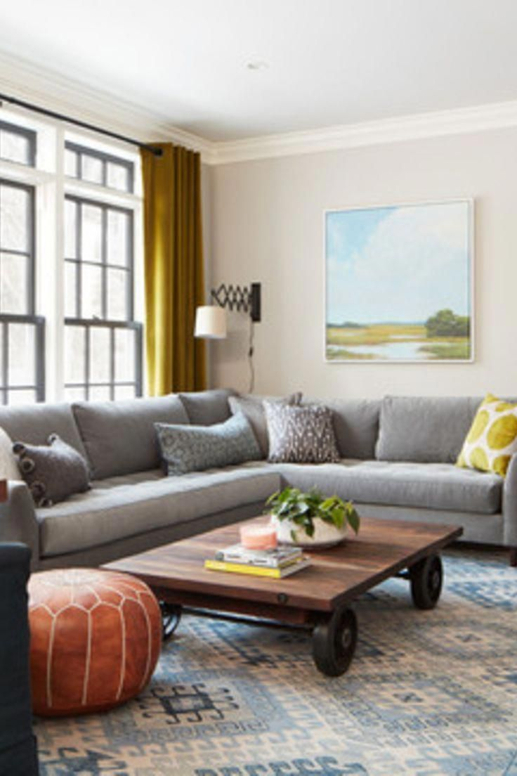 30 Living Room with sectional ideas - grey sectional ...
