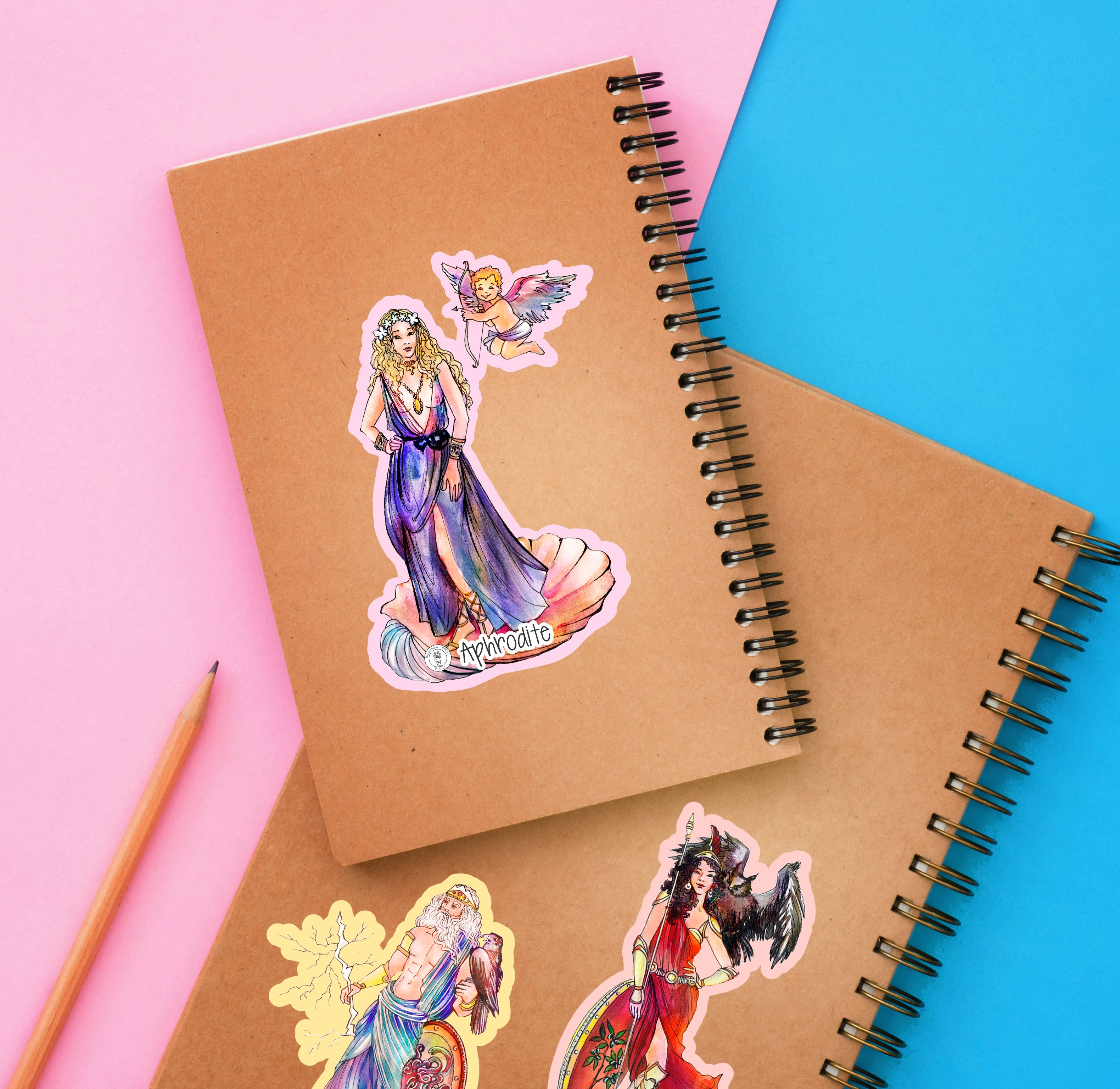 Greek Gods And Goddesses Printable Stickers In