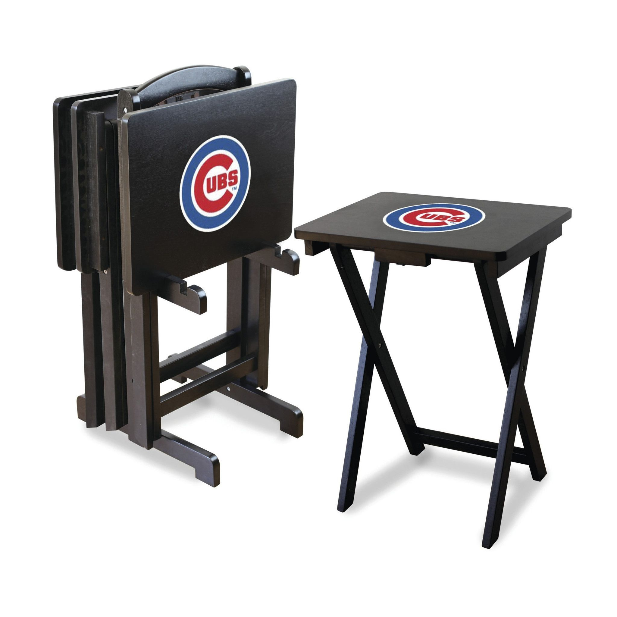 Chicago Cubs TV Trays With Stand Are Great For Extra Tailgating Table Space