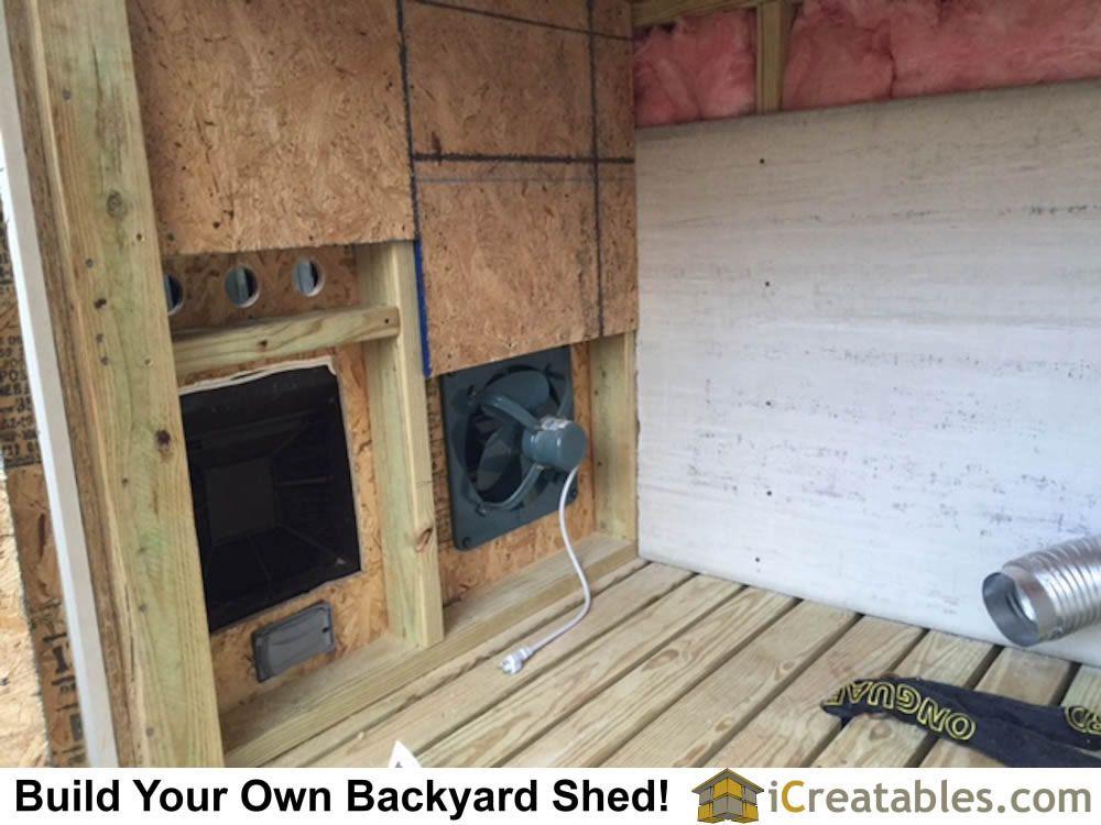 generator shed exhaust fan system