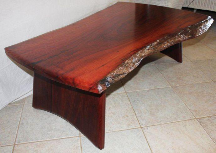 Solid Wood Slab Coffee Table