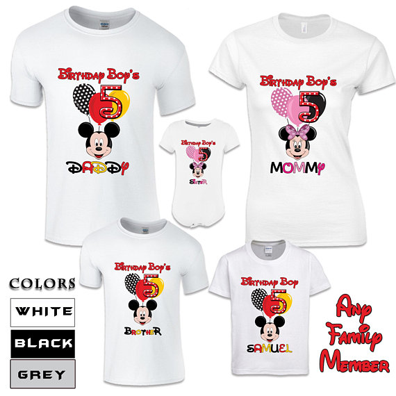 Disney Birthday Shirts For Family Bday Mickey Mouse Minnie Women Men A