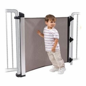 Lascal Kiddyguard Avant Child Safety Gate In Black Mesh