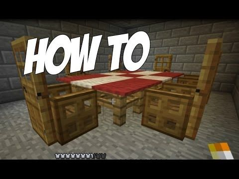 How To Make A Table Cloth / Dining Room In Minecraft! [Furniture Series  Episode