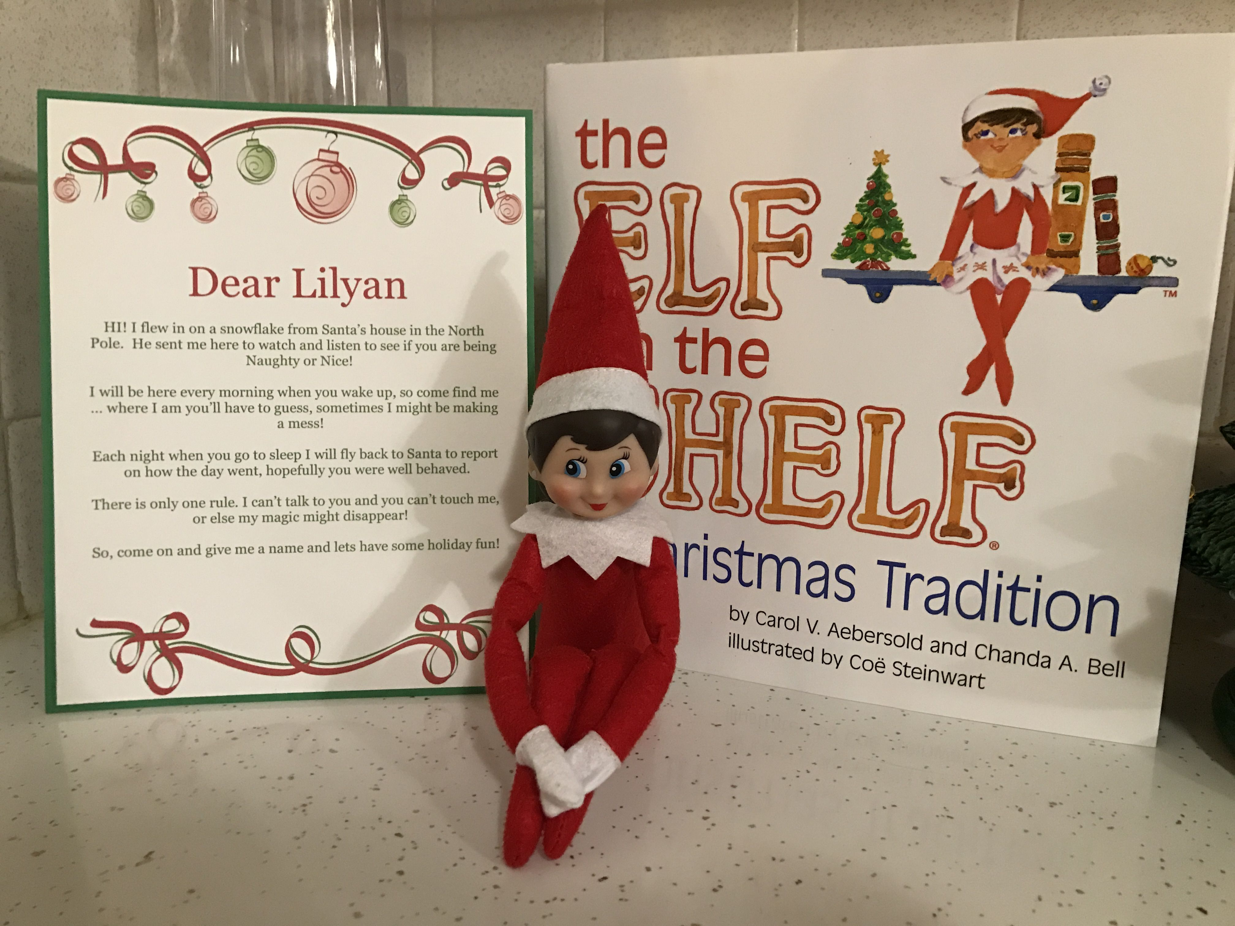 First time doing Elf on the Shelf with our 3.5 year old