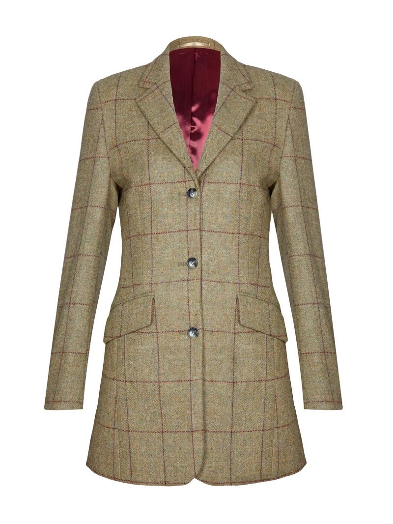 Ladies Long Tweed Country Jacket. Charles Wall Country Clothing ...