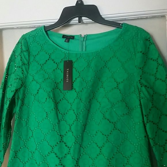 SALE TODAY! Stunning Talbot's Dress TODAY ONLY SALE! This gorgeous, brand new dress just needs to be worn! Money earned will help fund my mission trip to Guatemala to dig a well!  The dress body is lined, but the sleeves are not. 100% cotton. Talbots Dresses Midi