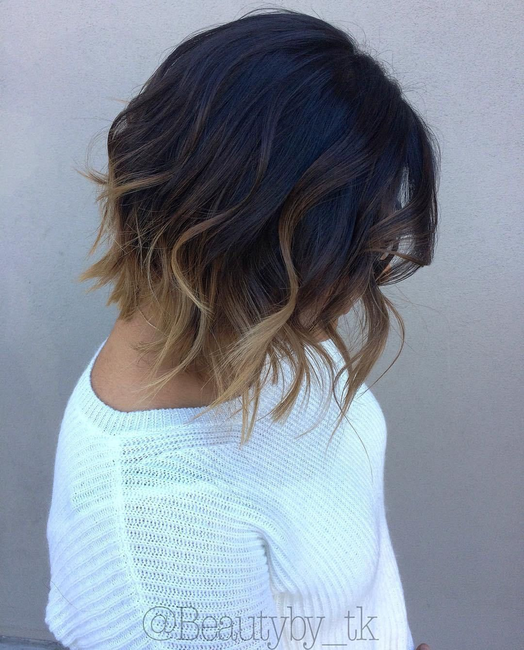short ombre hair options for your cropped locks in black