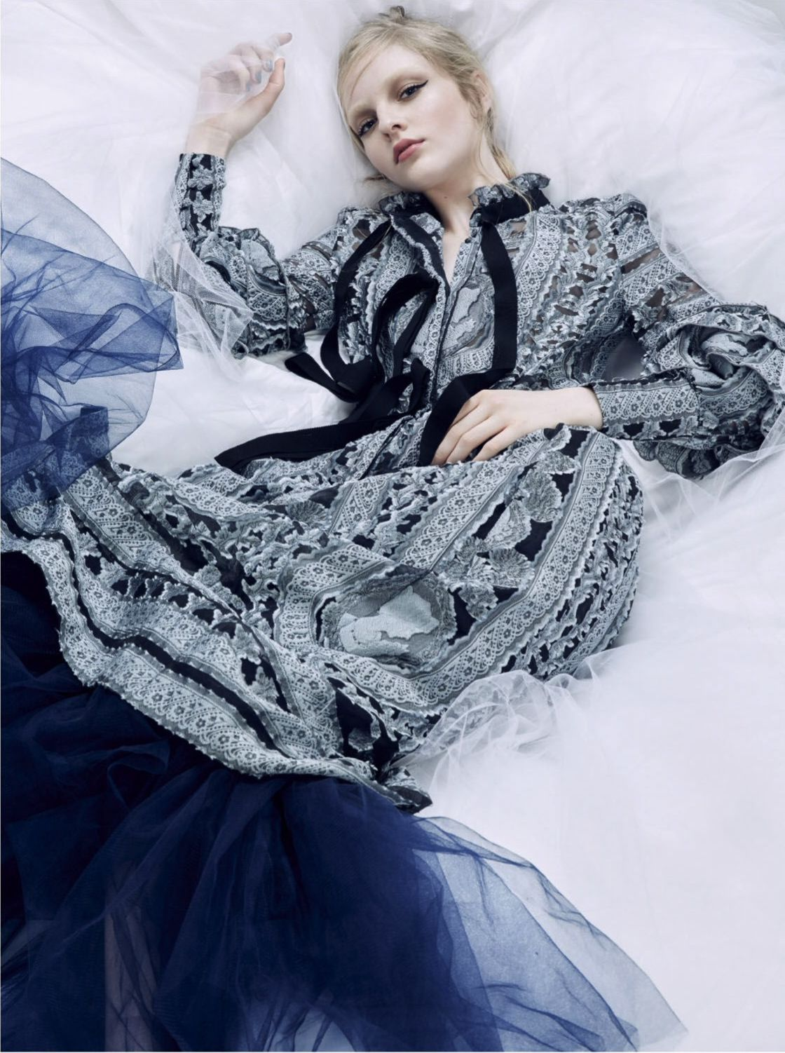 Skewed Lady - Olivia Hamilton by Kai Z Feng for Elle UK March 2016