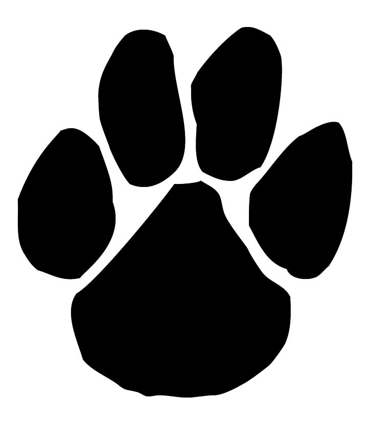 Panther Clipart Mascot Free Clipart Images 3 Paw Print Clip Art