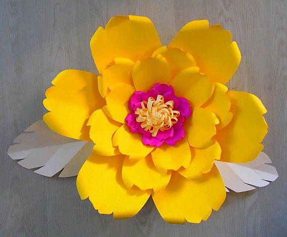 DIY Paper Flower Paper Flower Template PDF Paper Flower | deco ...