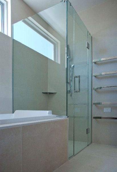 bath next to the shower love the head rest in the bath shower next to bath bathroom laundry pinterest