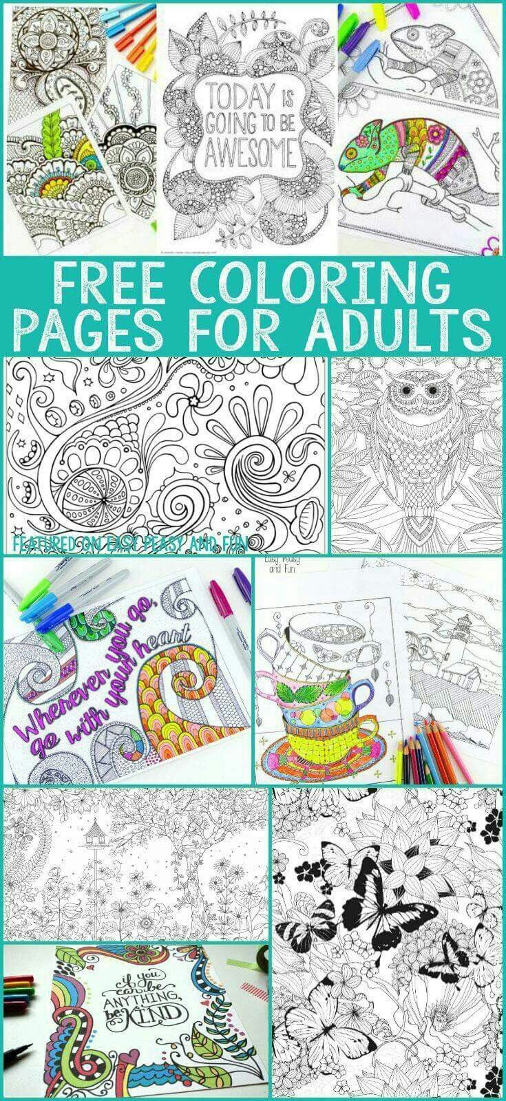 Free adult coloring pages | Color pages for adults | Pinterest ...