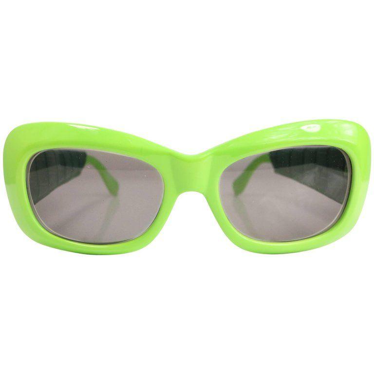 Gianni Versace Green Croc Leather Sunglasses  b8c8bf6175de