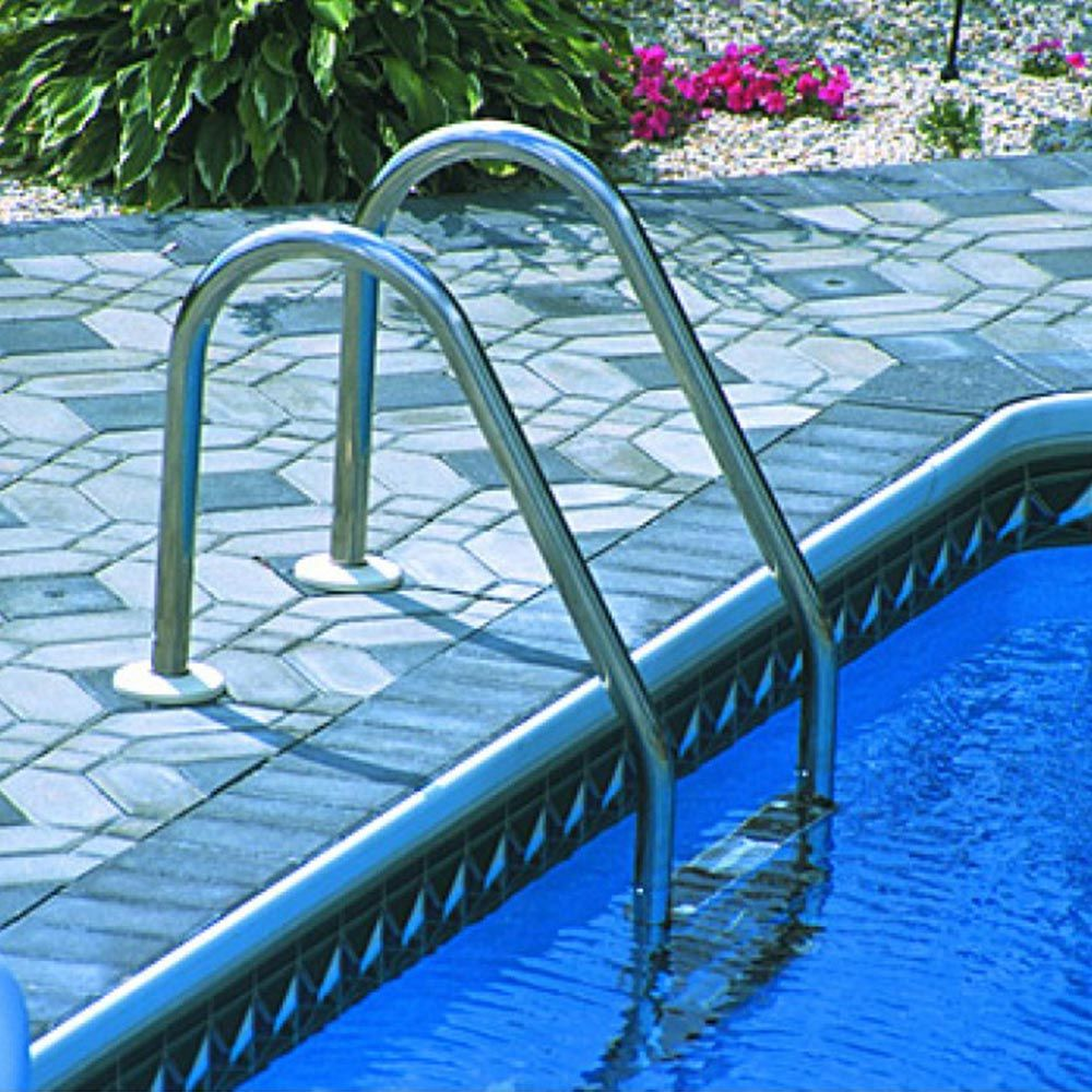 In Ground Pool 3 Step Stainless Steel Ladder In ground