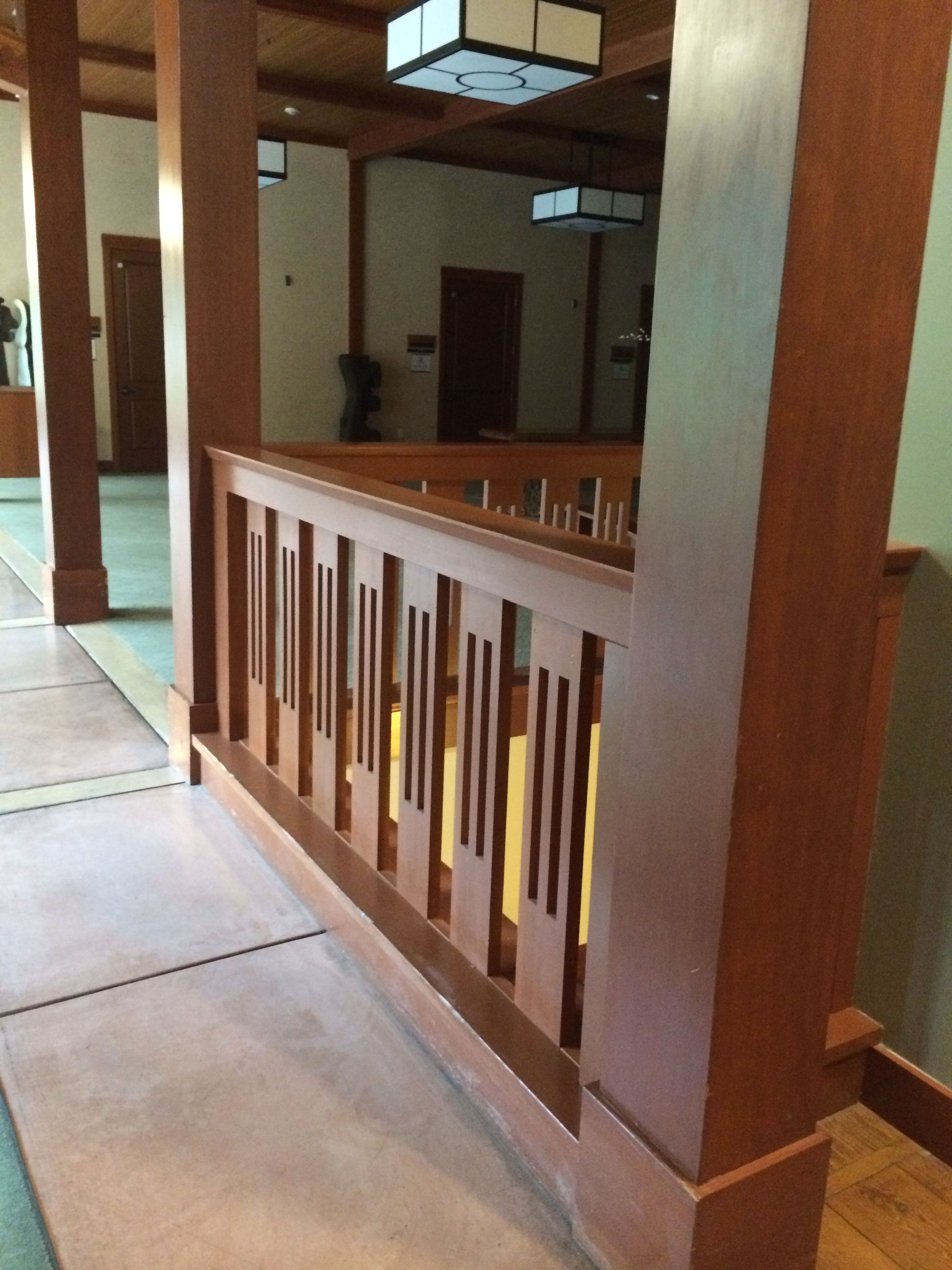 Best Craftsman Style Railing Craftsman Staircase Terrace 640 x 480