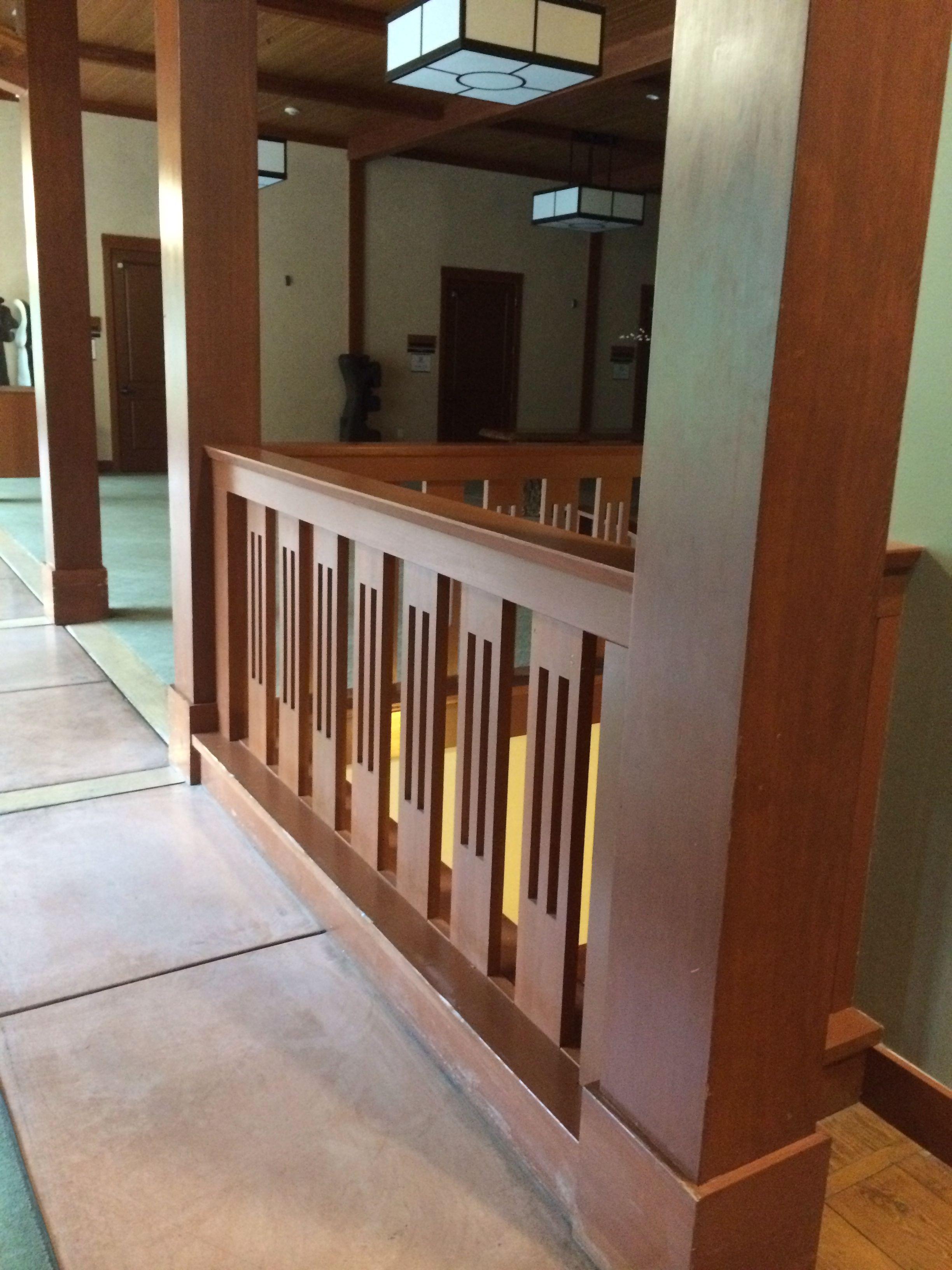 Craftsman Style Railing Craftsman Staircase Terrace   Craftsman Style Stair Railing