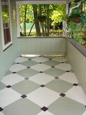 Vintage Pastiche Drumroll Please Paint Concrete Patio