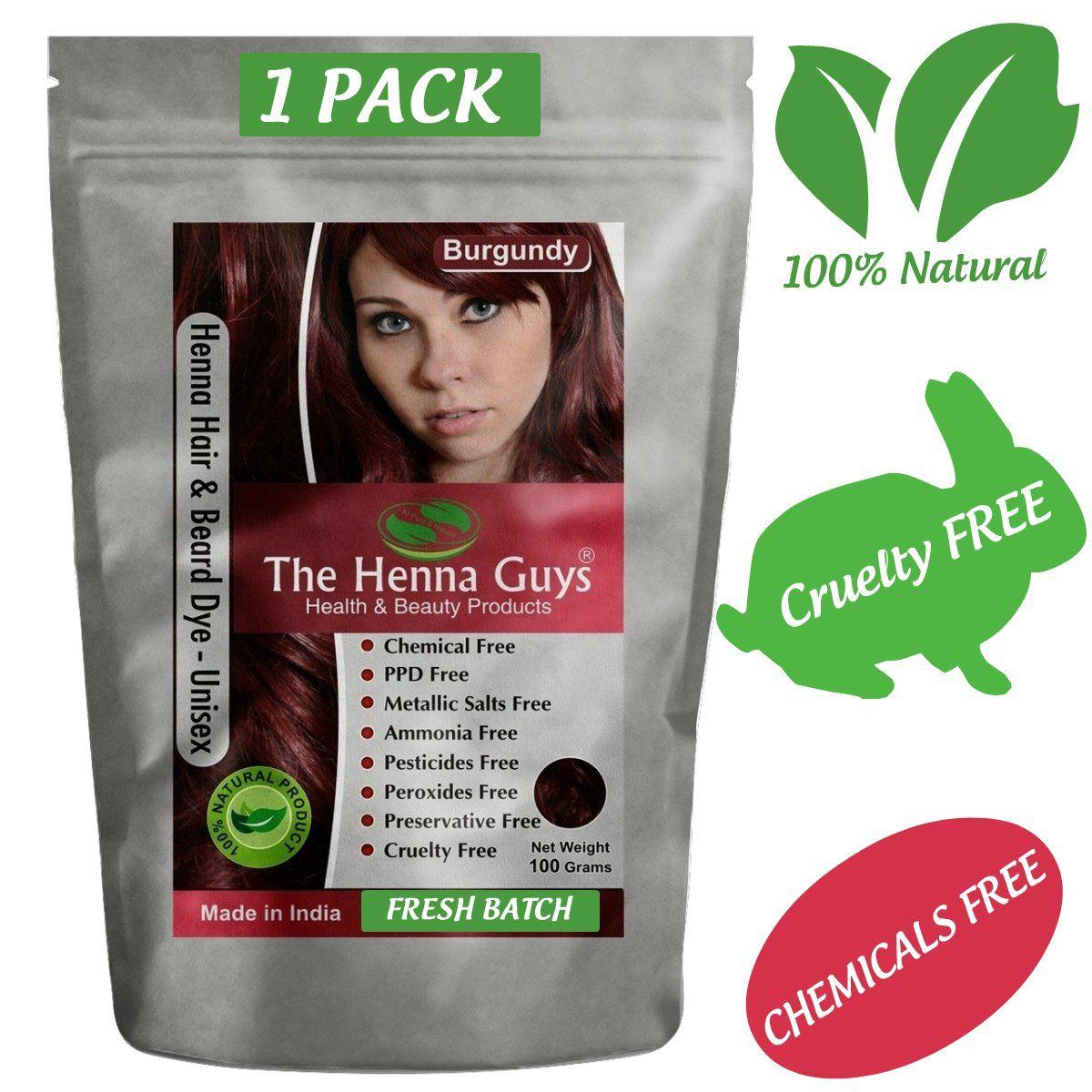 me :) BURGUNDY RED Henna Hair & Beard Dye / Color - 1 Pack - The ...
