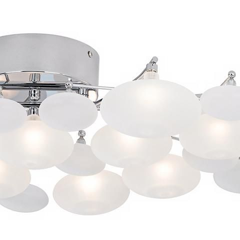 Possini euro lilypad 30 wide etched glass bath light bath light possini euro lilypad etched 30 wide bath light fixture 10574 lamps plus aloadofball Image collections