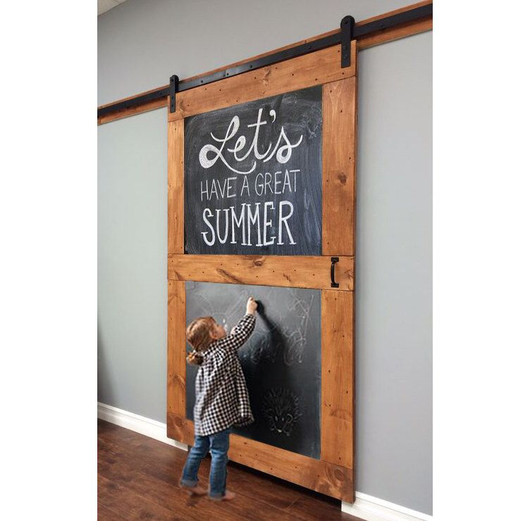 Chalkboard Custom Sliding Barn Door Etsy Barn Doors Sliding Wood Doors Interior Modern Barn Door