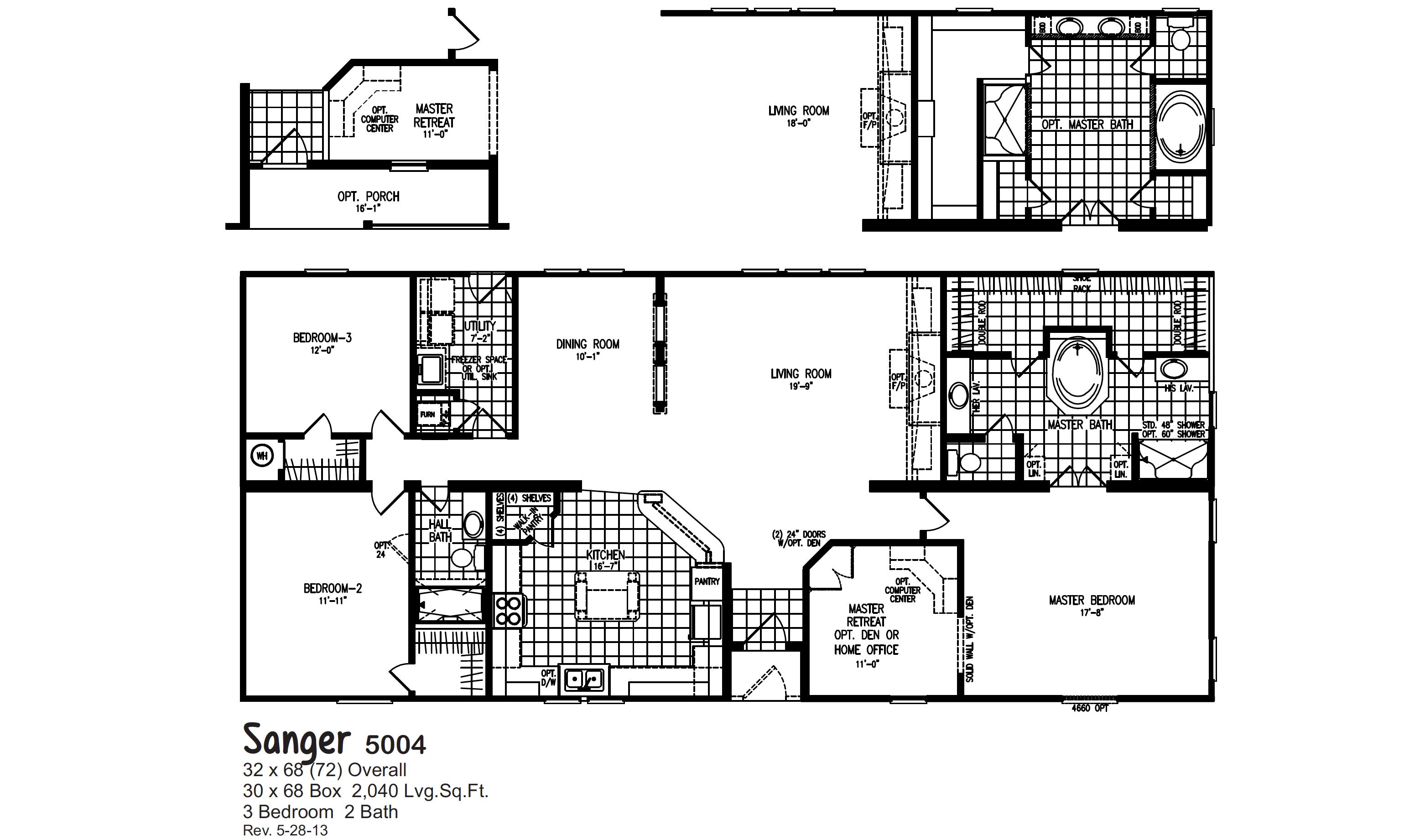 Oak Creek 5004 Floorplan Oak Creek Homes Floor Plans Oak Creek