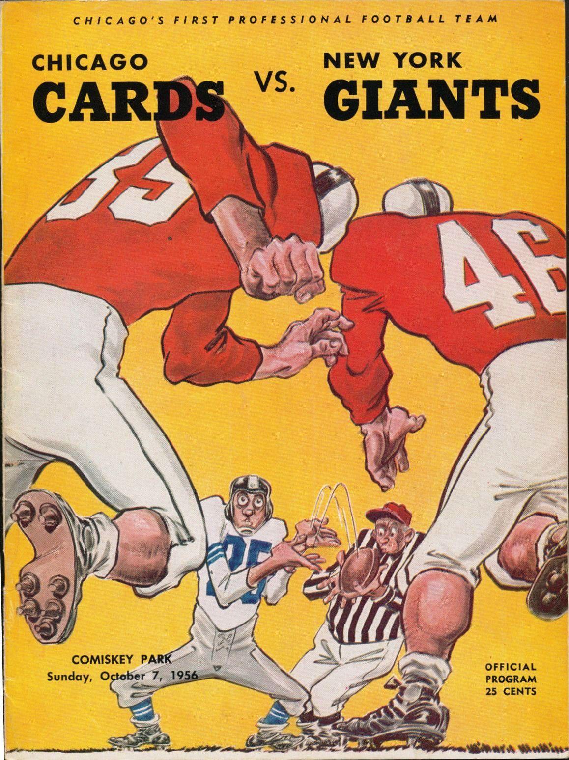 The 1956 New York Giants Football program, Miami