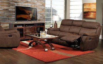 Living Room Furniture The Morrow Collection Reclining Sofa