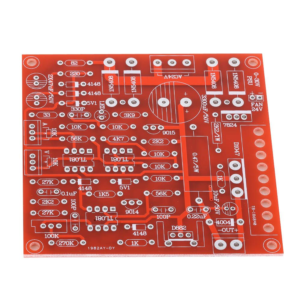 Dc Regulated Power Supply Diy Kit Continuously Adjustable Short Current Limiting Circuit Protection 0 30v