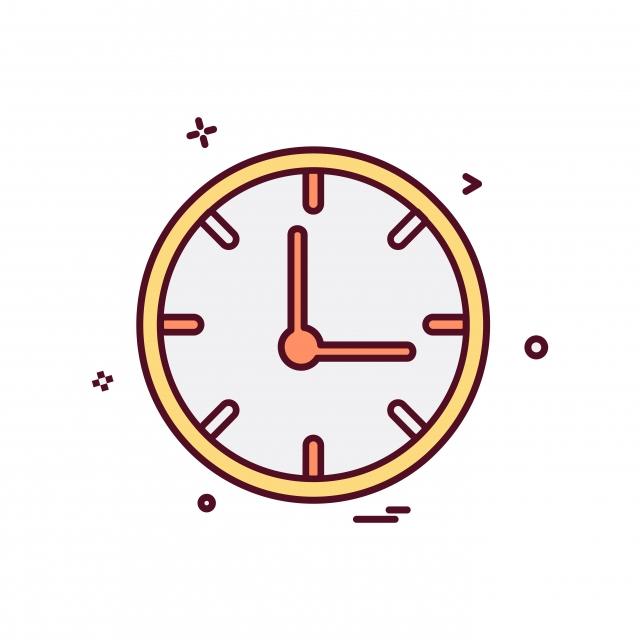 Clock Icon Design Vector, Clock, Icon, Illustration PNG